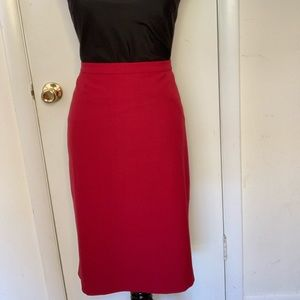 """Anne Klein suit SKIRT """"cranberry"""" NWT timeless"""
